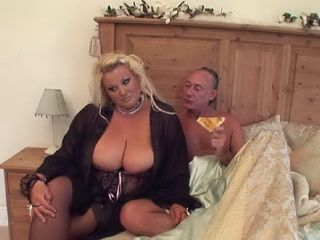 BBW Gives Her Big Wet Pussy To This Nasty Old Man