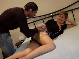 Horny Aunt Loves To Play With Cock