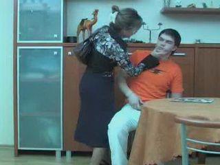 Stepmom Punishing Teen Boy Cause Of Jerking In Kitchen