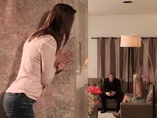 Daddy Did Not Know That His Daughter Spying While He Is Banging Her Best Friend