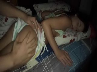 Sleeping Stepsister Woke Up By Her Naughty Stepbrother