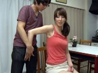 Careful Stepmother Gave To Her Stepson Amazing Titjob And Jerking
