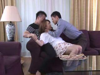 Nasty Stepson Rough Fucked His Stepmom With His Horny Friend  Yumi Kazama