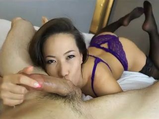 Sexy Asian Slut Sucks my Dick like a Boss