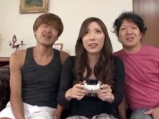 Lustful Asian Milf Stepmom Knows How To Play Games With Her Stepson And His Young Friend