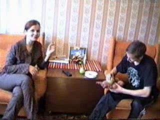 Horny Russian Mom Fucks A Boy
