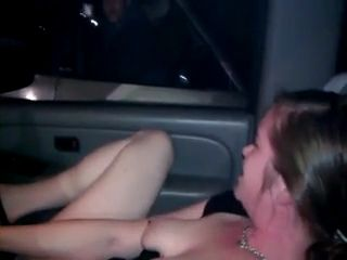 Local Bum Who Watches Teen Drilling Her Pussy With Beer Bottle In the Car Accepts Invitation To Lick Her Pussy