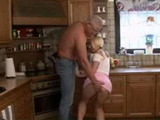 Old Fathers Friend Charmed Naive Blonde Teen With His Sweet Words