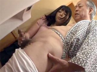 Grandpa Asked Young Japanese Maid To Help Him Out In A Bathroom