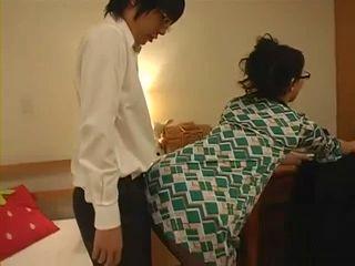Slutty Japanese Mom Maki Hojo Seduces and Fucks Daughters Teenage Classmate