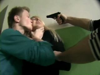 Kidnapped Blonde Hottie Gets  Anal Fucked By 2 Guys At Gun Point