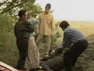 Hobos Intercepted Japanese Couple And After Beat Up They Forces Guy To Watch Unwilling Fuck Of His Girlfriend