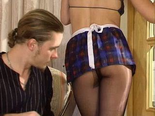 Maids Flashing Ass In Pantyhose Results With A Deep Anal Sex