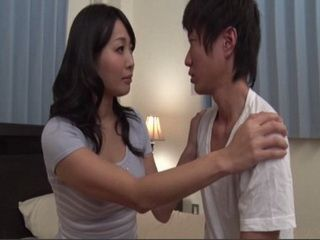 Japanese Stepmom Try To Relax And Calm Young Confused Boy