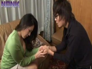 Jerking Husbands Nephew Young Cock Is So Wrong This Japanese Aunt Knows That Well