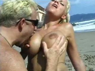 Tina Cheri Have Wild Sex On The Beach With Some Stranger Guy
