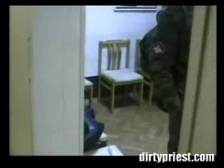 Real prostitute Brought In Army Barracks And Group Fucked