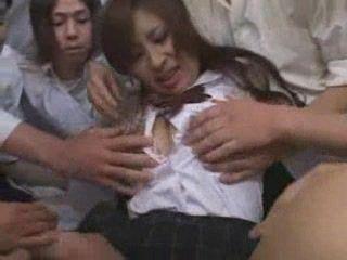 Japanese Teen Group Gangbanged