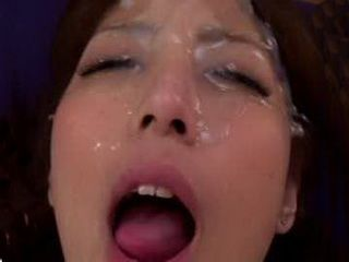 Japanese Teen Covered Her Face With Special Cum Face Mask