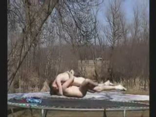 Acrobatic Fuck On A Trampoline