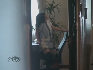 Boy Secretly Taping Young Cousine Humping Chair Thinking No One Will See
