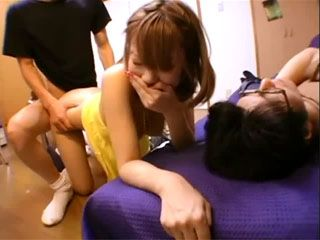 Japanese Girl Fucked Her Boyfriends Buddy While He Was Sleeping Wasted
