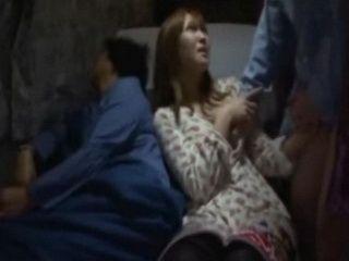 Japanese teen Fucked in train nearby her sleeping mom