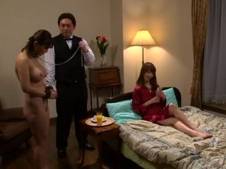 Enslaved Yuki Toma Gets Forced To Fuck By Her Mistress Reiko Sawamura and One Servant