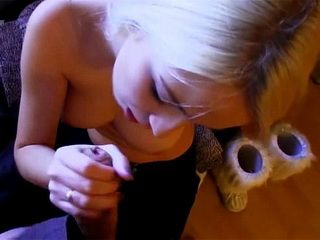 Hard Fuck With A Blonde Teen And Cum On Her Shaved Pussy
