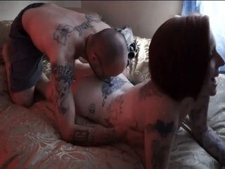 Inked Couple Fucks Their Brains Out