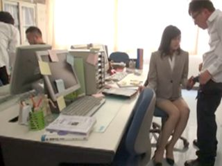 Poor Asian Employee Abused By Boss On Her Workplays