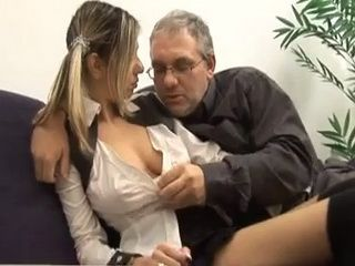 School Principal Promise Only Good Grades To Slutty Schoolgirl If She Fuck Him In His Office