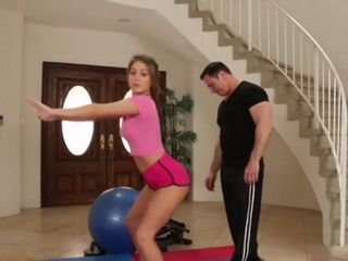 Fitness Instructor Having Big Trouble To Resist Super Sexy Teen Girl