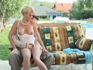 Hot Blonde Milf In Lingerie Anal Fucked By and In The Pool