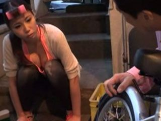 Pervert Neighbor Helps To His Hot Girl Next Door To Fix Her Bicycle But She Had To Return The Favor Later
