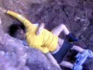 College Couple Risking Their Lives Fucking On A Cliff Just To Hide From Others