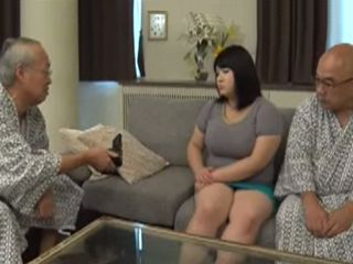 Blackmailed Fat Japanese Maid Was Impel To Sex With Two Old Dirty Men