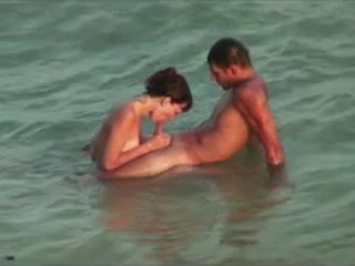 Voyeur Tapes Nudists Husband and Wife Having Hot Sex on the Beach