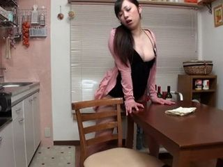 House Maid Caught On Hidden Cam Humping Kitchen Table And Masturbating While She Was Alone
