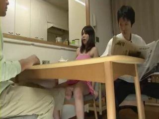 Daughter In Law An Shinohara Abused By Her Father In Law While Her Hubby Reads Newspaper