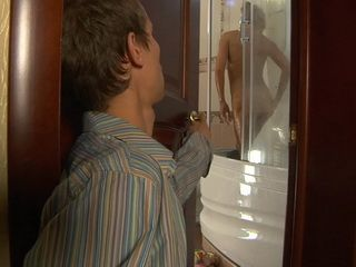 Son Spies And Fucks Hot Blond Milf Step Mother In the Shower