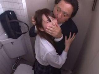 Terrified Asian Girl Rough Fucked In Public Toilet