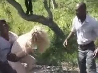 Helpless Girl Kidnapped In Her Street And Gangbanged By Black Guys