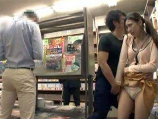Poor Japanese Chick Gets Swooped By Stranger In Crowded Book Store