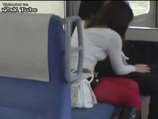Japanese Hooker Earned Money In Subway With Tekoki
