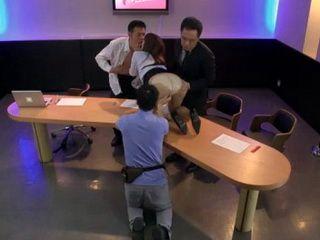 After Show Done TV Host Kawamura Maya Felt Sudden Heat And Fuck Hard her Guests In Studio