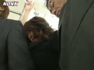 Busty Japanese Girl Groped and Fucked In Subway