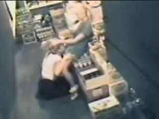 Surveillance Cam Tapes Amateur Lesbian Boss Abusing Cashier In The Storage