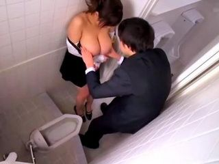 BIg Tits Japanese Mature Forced Blowjob In A Public Toilet
