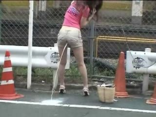 Walking Down The Street With Milk In Her Ass 3